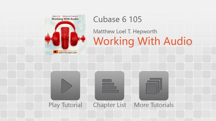 Cubase 6 105 - Working With Audio screenshot