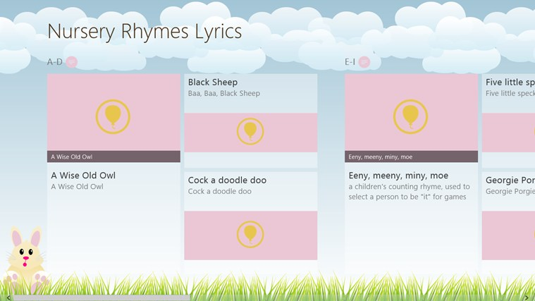 Nursery Rhymes Lyrics