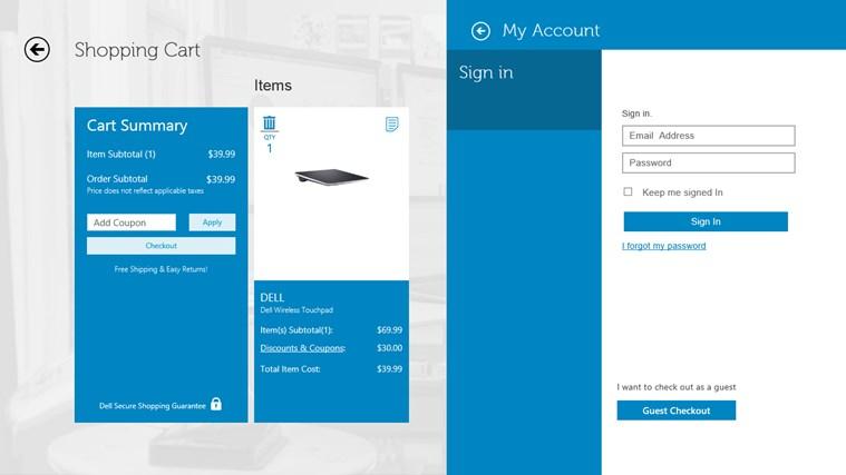 Dell Shop screen shot 6