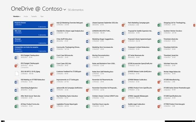 OneDrive para la Empresa captura de pantalla 0