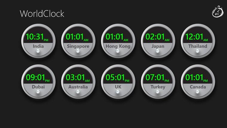 World Clock Wave screen shot 0
