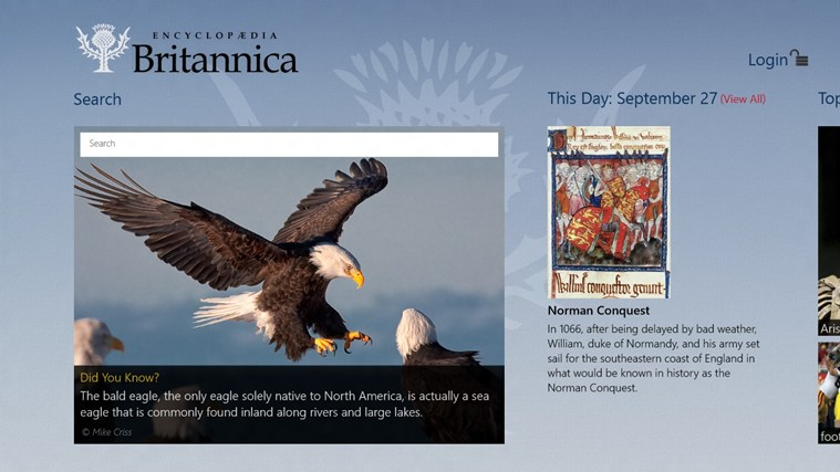 Encyclopaedia Britannica screen shot 0