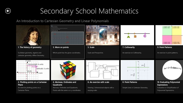 Secondary School Mathematics full screenshot