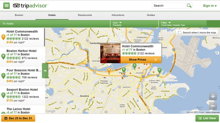 TripAdvisor Hotels Flights Restaurants screen shot 2
