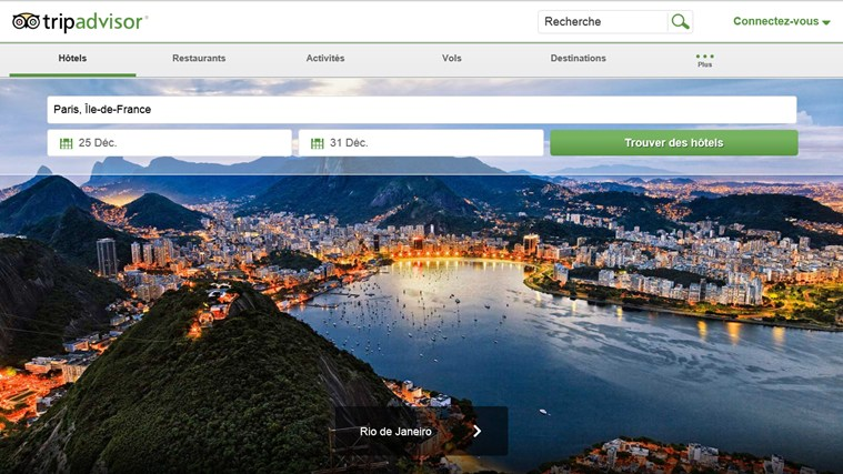 TripAdvisor Hotels Flights Restaurants capture d'écran 0