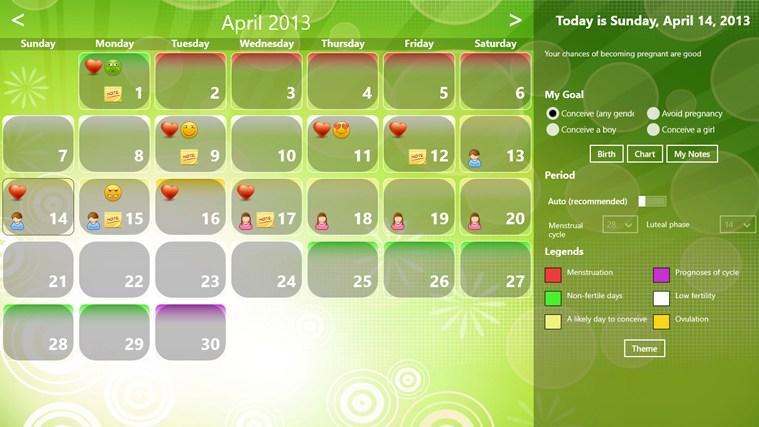 Fertility Calendar gabháil scáileáin 0