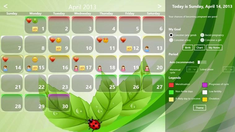 Fertility Calendar gabháil scáileáin 2