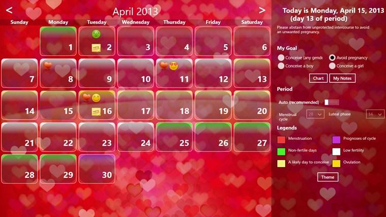 Fertility Calendar gabháil scáileáin 6