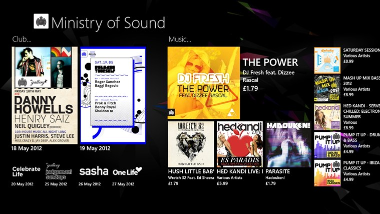 Ministry of Sound screen shot 0