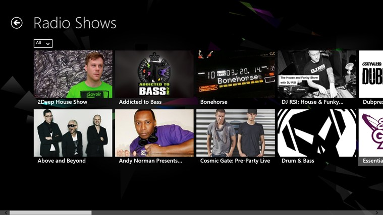 Ministry of Sound screen shot 2