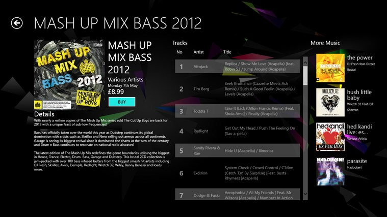 Ministry of Sound screen shot 4