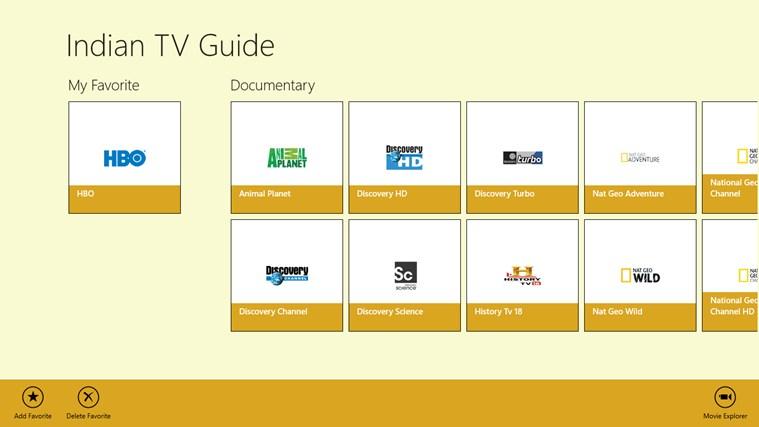 Indian TV Guide screen shot 0