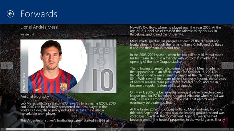 FC Barcelona screenshot 2