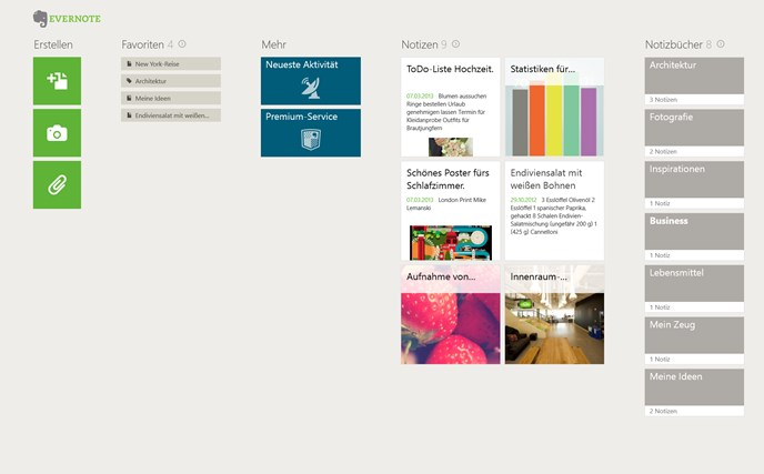 Evernote Touch Screenshot 0