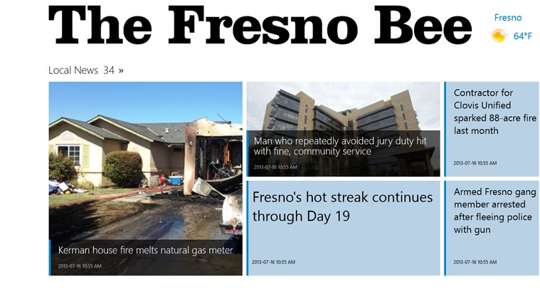 Fresno Bee screen shot 0