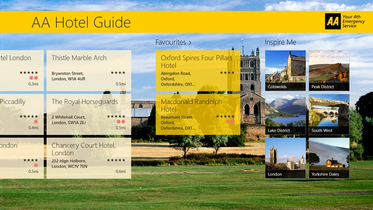 AA Hotel Guide screen shot 2