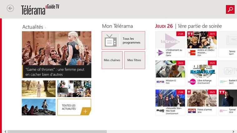 Télérama Guide TV capture d'écran 0