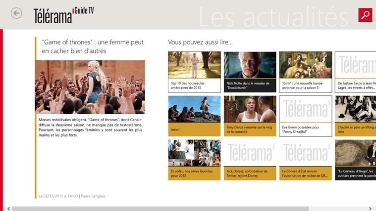 Télérama Guide TV capture d'écran 2