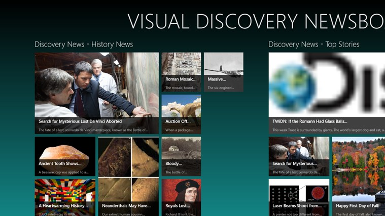 Visual Discovery Newsboard screen shot 0