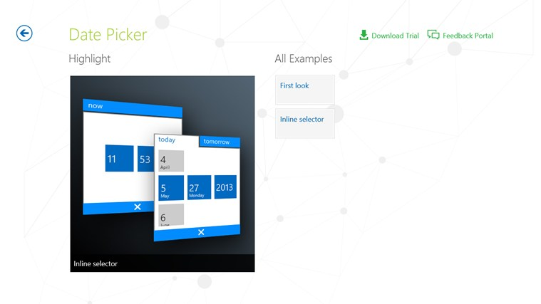 Telerik Controls Examples (XAML) screen shot 4