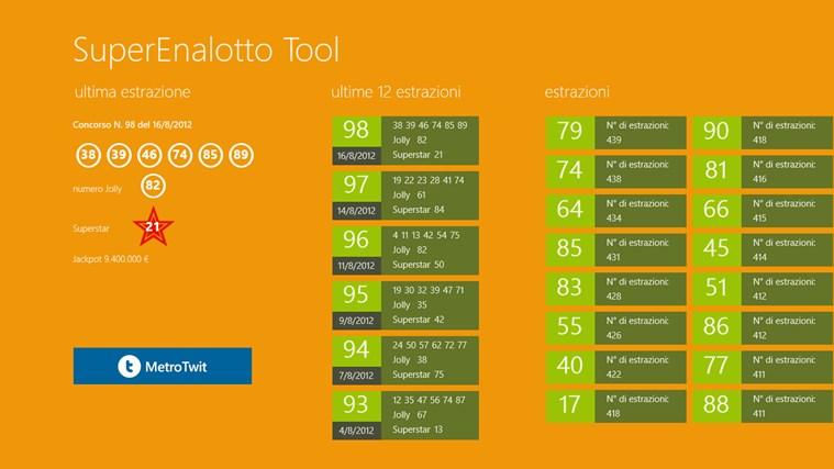 SuperEnalotto Tool cattura di schermata 0