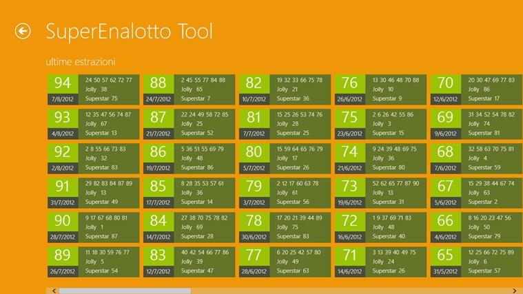 SuperEnalotto Tool cattura di schermata 2