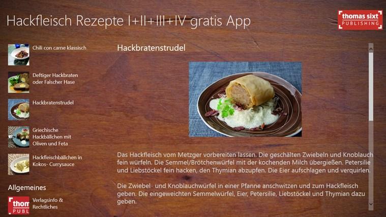 Hackfleisch Rezepte I+II+III+IV gratis screen shot 0