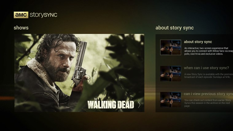 AMC Story Sync screen shot 0
