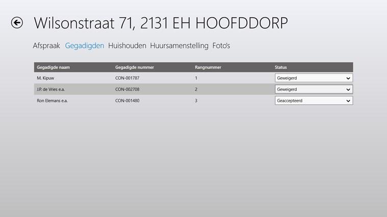 VerhuurApp schermafbeelding 2