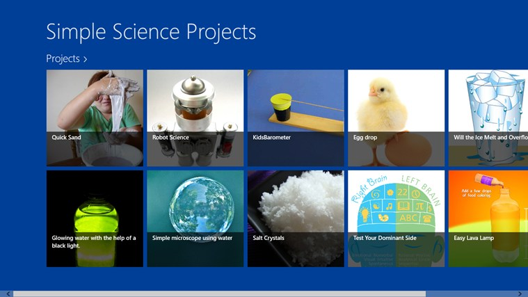 Simple Science Projects screen shot 0