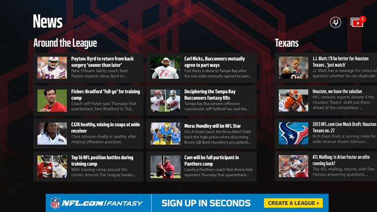 NFL Mobile screen shot 2