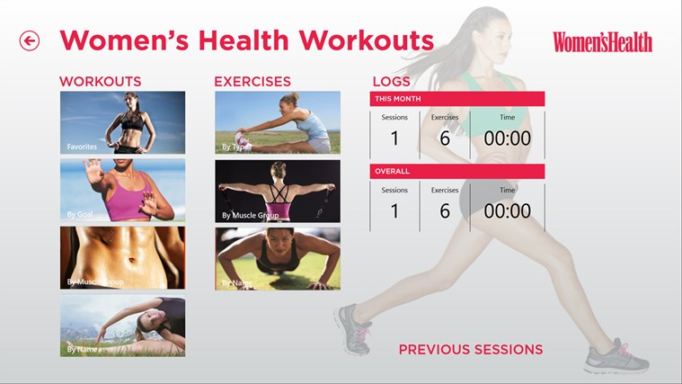 Women's Health Workouts screen shot 0