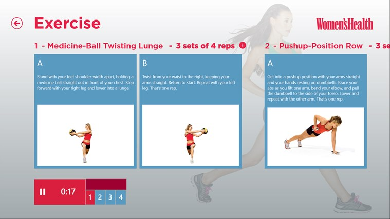 Women's Health Workouts screen shot 2