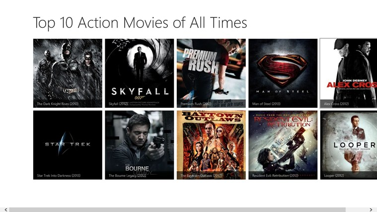 Top 10 Action Movies of All Times captura de pantalla 0