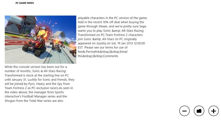 PC Gaming News snímek obrazovky 0