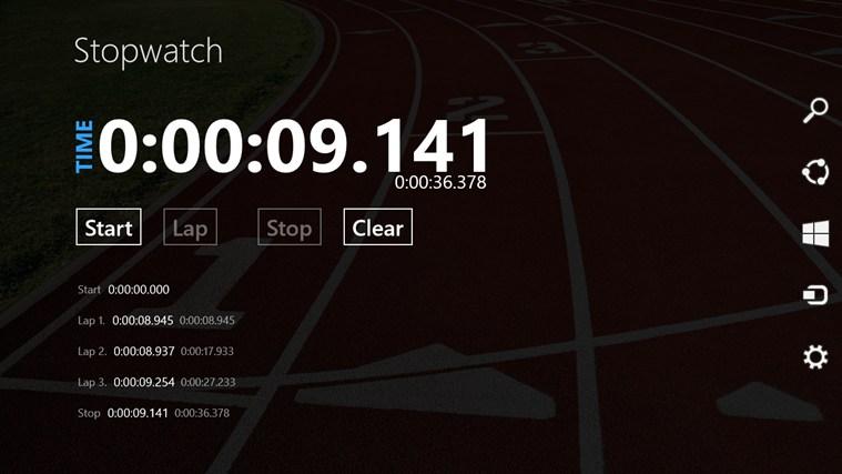 Stopwatch Free screen shot 0