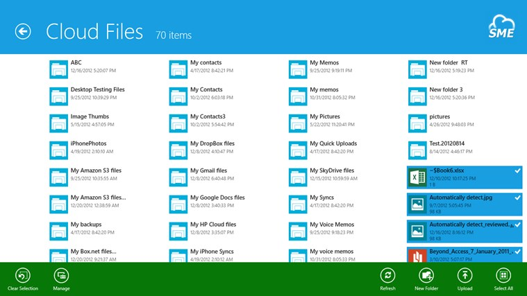 Cloud File Explorer screen shot 4