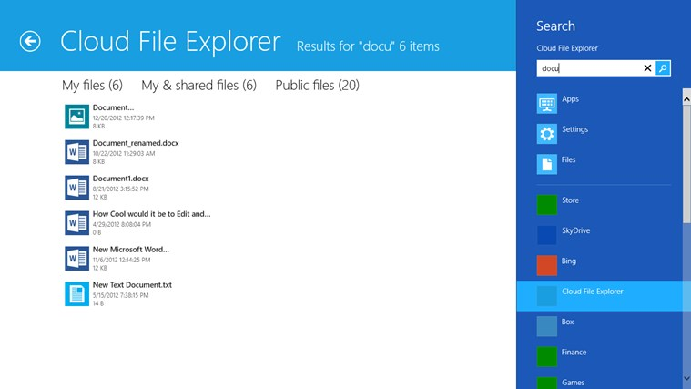 Cloud File Explorer screen shot 6