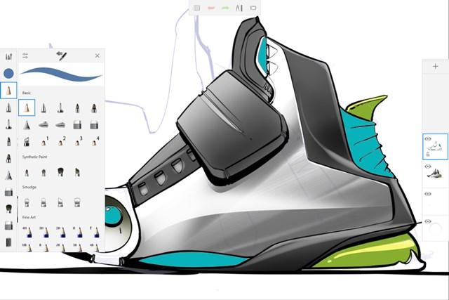 Autodesk® SketchBook® for Windows Tablet screen shot 4