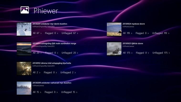 Phiewer screen shot 0
