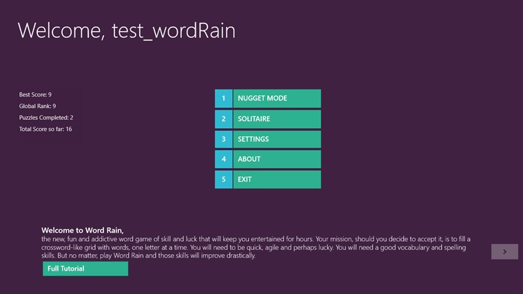 Word Rain screen shot 0