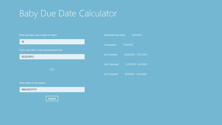 Due Date Calculator on Pinterest | Pregnancy Calculator, Baby Due Date ...