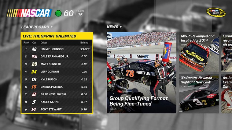 NASCAR screen shot 0