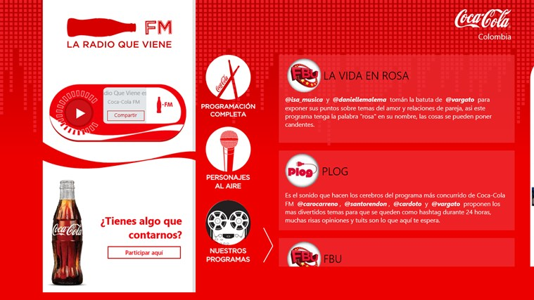 Coca Cola FM screen shot 4