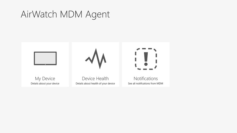 AirWatch MDM Agent screen shot 0