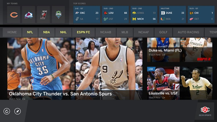 The ESPN App screen shot 6