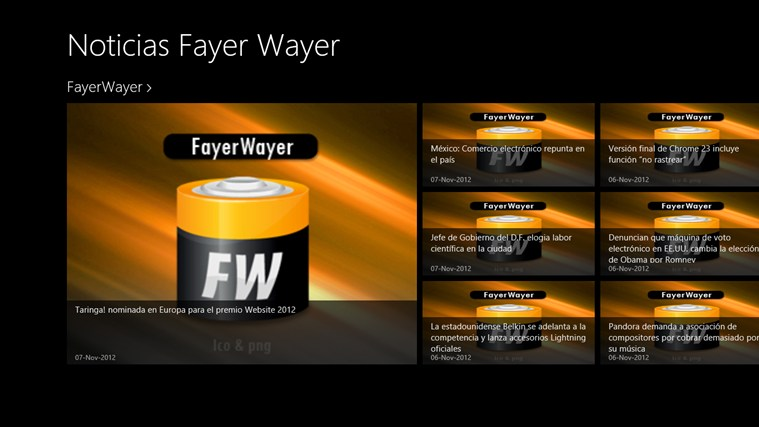 Noticias Fayer Wayer screen shot 0