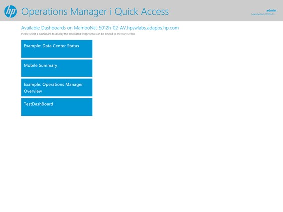 HP Operations Manager i Quick Access screen shot 0