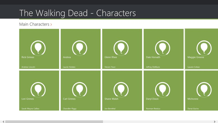 The Walking Dead - Characters screen shot 0