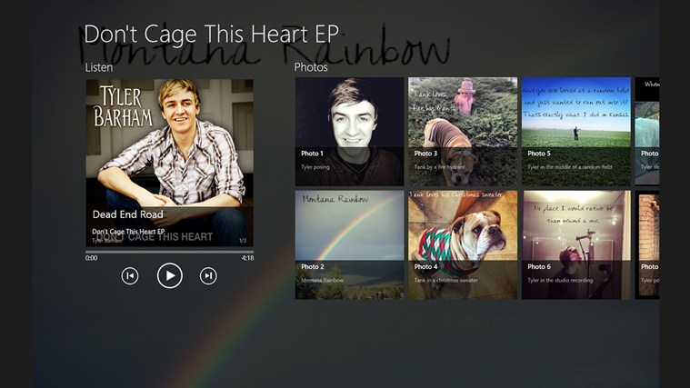 Don't Cage This Heart Album App captura de pantalla 0